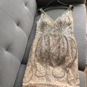 Jovani gold short cocktail dress. Beautiful!